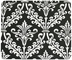 Black and White Color Damask Design Mouse Pad Mousepad