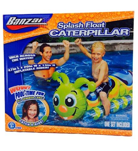 Banzai Splash Float Caterpillar Inflatable Rider!