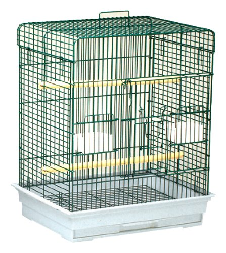 Blue Ribbon Square Style Roof Bird Cage, 24-Inch by 18-Inch by 28-Inch, Ocean Blue/Granite