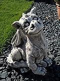 Riesiger Drache Steinfigur Feng Shui Dragon aus Steinguss