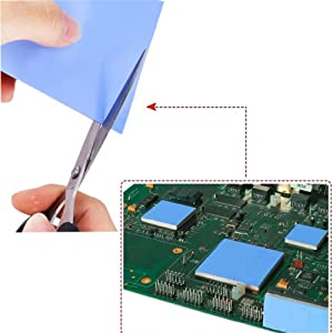 200x200x1 5mm Thermal Pad, 6W/m k Thermal Conductivity/Non