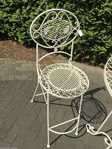 Gartenmöbel Stuhl Metall Barstuhl Gartenstuhl Eisen Shabby Antik Stil H 116 cm