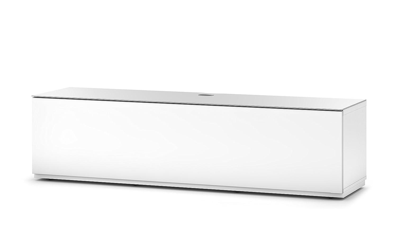 Sonorous STA 160F-WHT-WHT-BS Lowboard für 177,8 cm (70 Zoll) Fernseher weiß