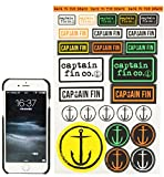 CAPTAIN FIN (キャプテンフィン) Captain Assorted Sticker Sheet ステッカーシート 【アソート】 [並行輸入品]