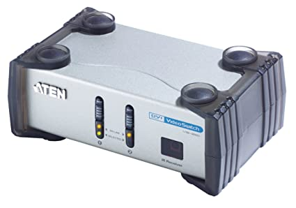 Aten VS261 Commutateur audio-vidéo DVI à 2 ports avec télécommande infrarouge