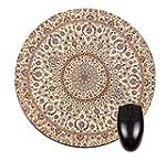 Beige Persian Oriental Rug- Round Mou...