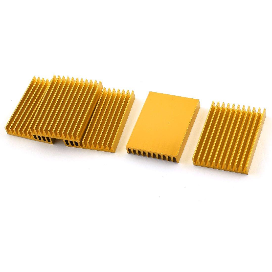 5Pcs 45x10x60mm Aluminium Heatsink Heat Diffuse Cooling Cooler Fin dhl ems 2 lots new omron proximity switch e2em x8c1 e2emx8c1 a2