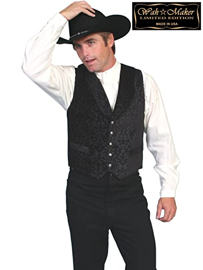 Victorian Men's Vests and Waistcoats Brocade Vest  AT vintagedancer.com