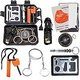 Survival Kit EMDMAK Outdoor Emergency Gear Kit for Camping Hiking Travelling or Adventures (New Black)