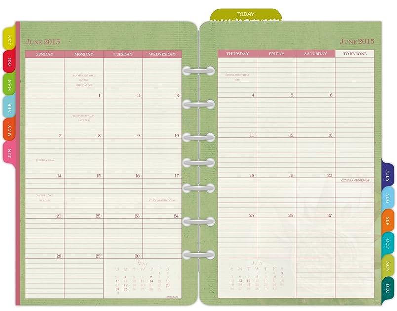 Planner Calendar Refills : Day timer flavia monthly desk size planner refill
