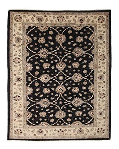 Darya Rugs Oushak Oriental Rug, Black, 5′ 7″ x 7′ 1″