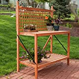 Coral Coast Coral Coast Fir Wood Foldable Potting Bench, Wood, 48W x 24D x 60H in.