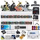 Complete Tattoo Kit 4 Machine Guns Set Equipment Power Supply 40 Color Inks D139