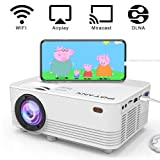[Wireless Projector] POYANK 2400Lumens LED Wireless Mini Projector, WiFi Projector Compatible with Smartphones, Video Games, TV Box Full HD 1080p Supported (WiFi Model) (Color: Wifi Model)