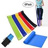 MLYC Upgraded 6 Loops Exercise Resistance Bands for Home Workout, 80 Days of Obsession Training, Pilates, Yoga, Rehab, Physical Therapy with Carry Bag