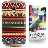 CaseiLike ® Indian 2025 Hybrid Streifen Tribal Theme Muster, Snap-on wieder Gehäuse für Samsung Galaxy S3 Mini i8190 mit Displayschutzfolie 1pcs.