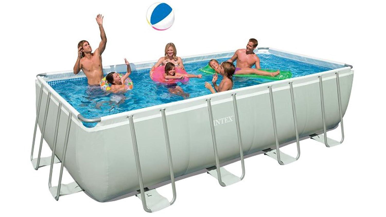 Intex Rectangular Ultra Frame Pool Set, 18-Feet by 9-Feet by 52-Inch