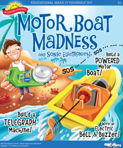 Poof-Slinky - Scientific Explorer Motor Boat Madness And Sonic Electronics Kit With Toy Boat And Electric Bell, 16-Activities, 0Sa301 front-512439