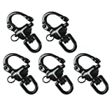 Fusion Climb Black Quick Release High Strength Swivel Snap Shackle