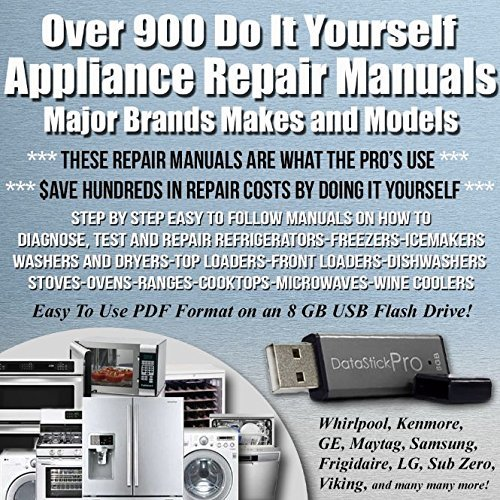 Over 900 Easy Step-by-step Appliance Repair Manuals. All Major Brands. Do-it-yourself and SAVE MONEY!!
