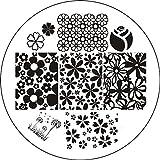 Amazon.co.jp(ボルンプリティー)Born Prettyミックス花デザインスタンピングイメージプレート[並行輸入品]