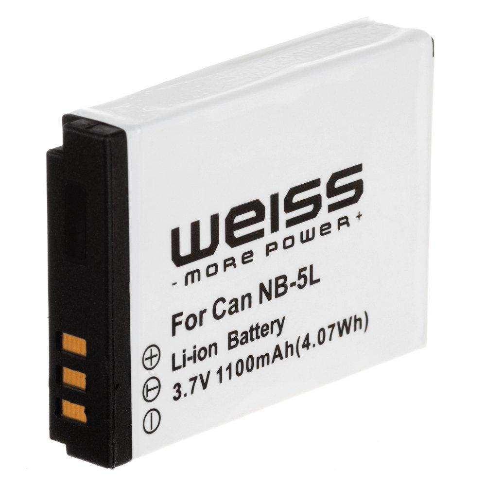 Weiss- Batería de ion de litio equivalente a Canon NB-5L para Canon Ixus 90 IS / 800 IS / 850 IS / 900 Ti / 950 IS / PowerShot SD 700 IS, etc. - Electrónica revisión y más información