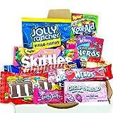 Mini American Sweet Hamper Candy/Chocolate/Wonka/Nerds Christmas/Birthday Gift - in a White Card Box - Version 2