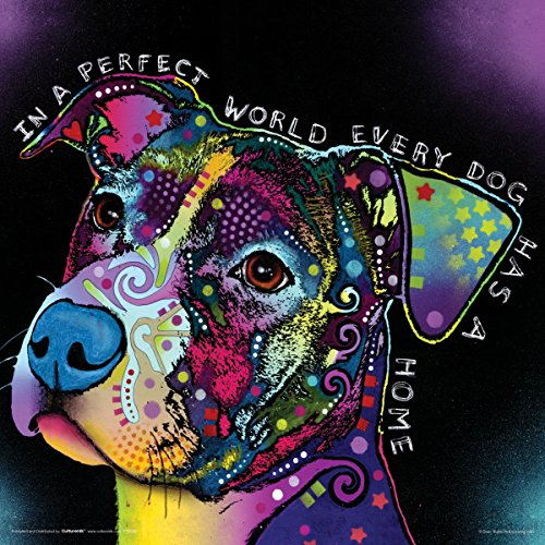 Dean Russo Dog World Quote Modern Animal Decorative Art Poster Print 12x12
