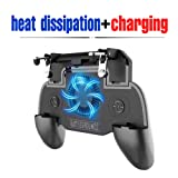 Mobile Game Controller Upgrade Version Cooling, Charging Gamepad Shoot and Aim Trigger Phone Cooling Pad Power Bank Mobile Gaming Joysticks for Android iOS