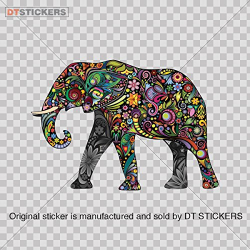 decal-stickers-colorful-elephant-car-window-wall-art-decor-doors-helmet-truck-motorcycle-note-book-m