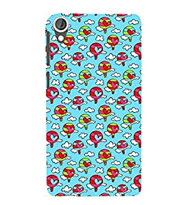 ANIMATED BALOONS WITH HEARTS PATTERN 3D Hard Polycarbonate Designer Back Case Cover for HTC Desire 820::HTC Desire 820Q::HTC Desire 820S