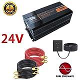 5000W Pure Sine Wave Power Inverter with 4 AC Outlets and Led Display DC 24V to AC 110V DC Car Inverter for RV, Home, Car Use - Peak 10000W,24V (Color: 24V)