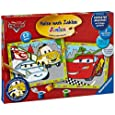 Ravensburger 27748 - Disney Cars - Malen nach Zahlen Junior, 30x24 cm (2 Motive)