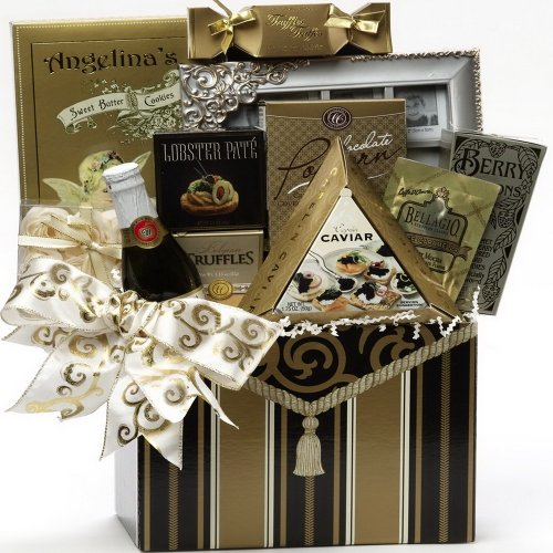 Art of Appreciation Gift Baskets To Have and To Hold Wedding or Anniversary Gift Box with Caviar