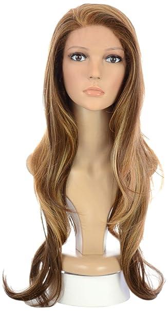 Long Blonde/Brown Wavy Lace Front Wig | Khloe Kardashian,