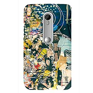 Zeerow Hard Case Mobile Cover for Moto Play