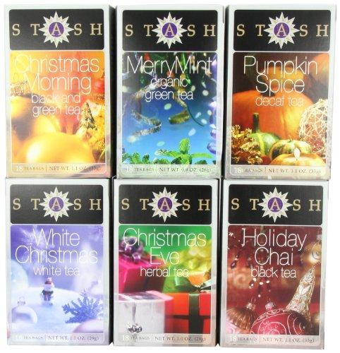 Stash Tea Company Holiday Teas Six Flavor Gift