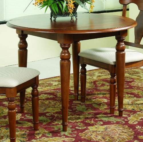 Charles X Round Drop Leaf Dining Table by Bassett Mirror Company - Mahogany (8048-706)