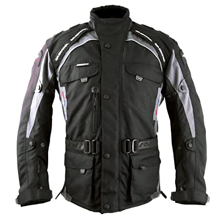 Roleff Racewear 7811 Blouson Moto Liverpool, Noir/Gris, XS