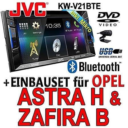 Opel astra h, zafira b-jVC kW-v21BTE tFT dVD bluetooth cD-mP3/uSB avec kit de montage