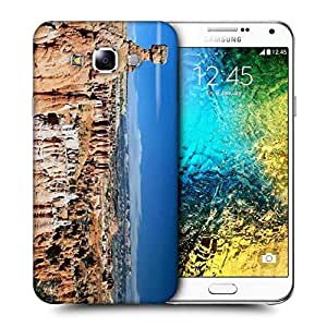 Snoogg Abstract Mountain View Printed Protective Phone Back Case Cover ForSamsung Galaxy E7