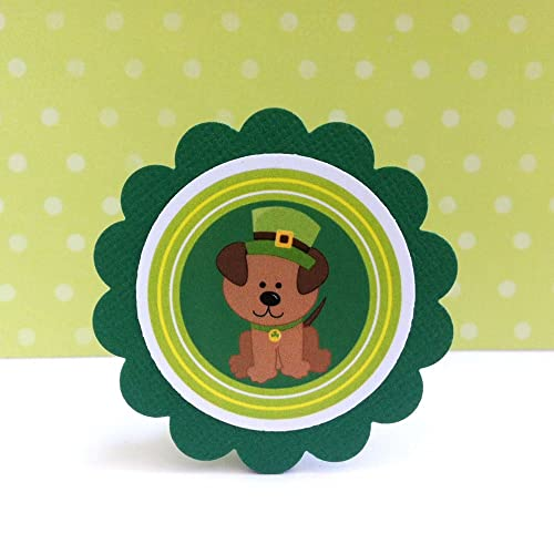 St Patrick Lucky Dog Gift Tags - Set of 12