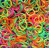 Refill Bands & Clips Mixed Colors (3 Free Charms Included For Solid Colors) (Assorted Neon)