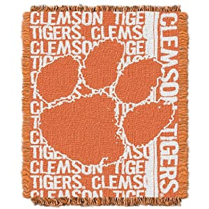 Buy NCAA Clemson Tigers 48 x 60-Inch Double Play Jacquard Triple Woven Throw by Northwest
