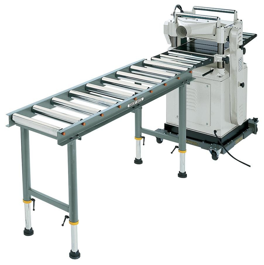 Shop Fox D2271 Heavy Duty 9 Roller Table Infeed Outfeed Roller Tables