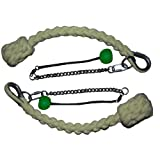 SnakeFerno Fire Poi With Pom Handles (Green) (Color: Green)