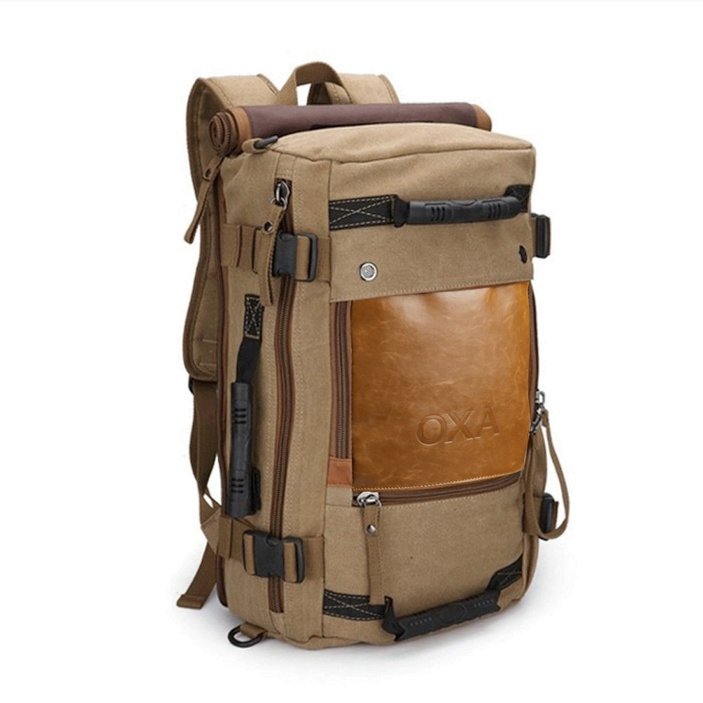 OXA Vintage Canvas Travel Backpack 0
