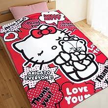 Sanrio Hello Kitty Warmer Fleece Blanket 40th Anniversary