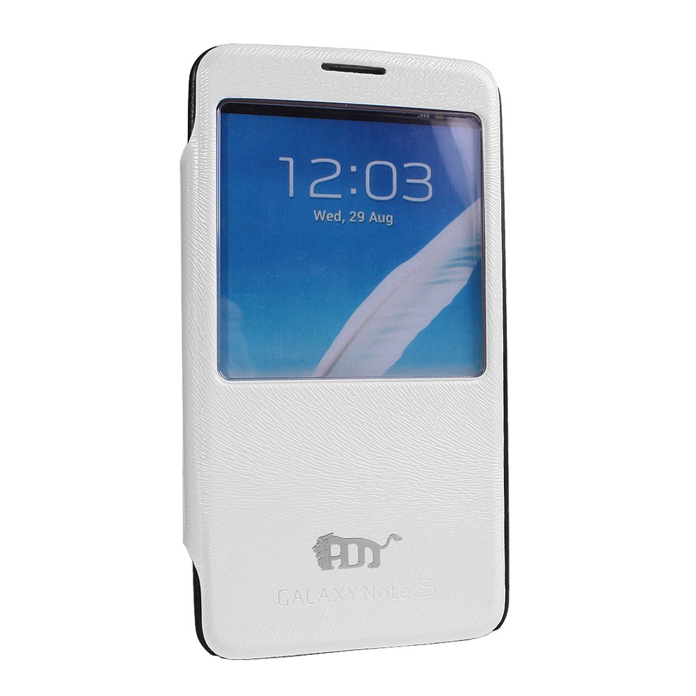 Pdncase Samsung Note 3 Cover Flip Case - White