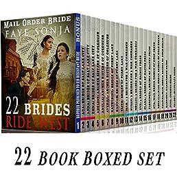Mail Order Bride: 22 Book Boxed set ( BONUS included ) 22 Brides Ride West :CLEAN Western Historical Romance Series Bundle